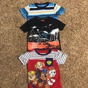 Lot of 3 2t shirt sleeve shirts